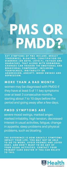 Most women experience some sort of PMS symptom from mild to discomforting but severe symptoms are in a category all their own and are known as premenstrual dysphoric disorder or PMDD. Health Facts, Health Diet, Health And Wellness, Mental Health, Pmdd Symptoms, Premenstrual Dysphoric Disorder, Diy Beauty Treatments, Health