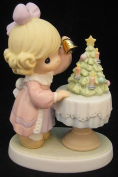 Precious Moments May Your Days Be Merry And Bright Girl w/ Christmas Tree 878901
