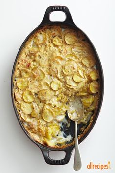 """Creamy and Crispy Scalloped Potatoes 