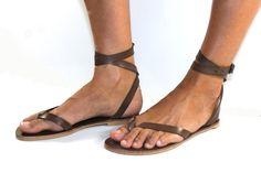 Brown Leather Sandals for Women & Men - Design 4. $75.00, via Etsy.