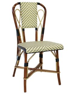 Restaurant chair / traditional / bended wood / rattan BRUAND Maison Gatti