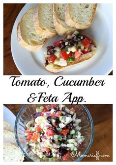 Tomato and Cucumber with Feta Appetizer. This healthy recipe is really easy to make. - Momcrieff