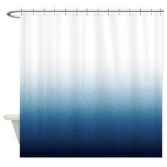 Indigo blue Ombre Shower Curtain on CafePress.com