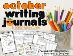 This printable journal with 24 seasonal topics is a perfect addition to your writing curriculum or work on writing center. Looking at a big blank piece of paper can be really intimidating to a young writer. These pages are perfectly sized and designed to be inviting and interesting for your first, second, and third graders.Print as few or as many pages as you'd like then staple together and you're set for the month!