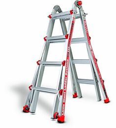 little giant ladder in a frame configuration