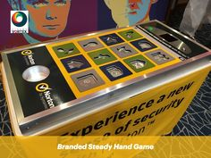 Branded Steady Hand Game called Tap the App for #BrandActivations, #Exhibitions, #TradeStands. This #SteadyHandGame is perfect for applying branding. The top of the game can be #branded, so can the full table skirt around the table.   This Smart Phone Game is easy to use, simply remove the apps from the game without sounding the alarm. This Tap the App game will keep score so you will know how many times the alarm was sounded.   #TapTheApp #SteadyHandGameHire #BrandedGames #BrandedSmartPhone