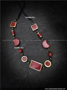 Designer Handmade Terracotta Antique Gold And Brown Color Half Moon Design Choker Necklace By Nakshatra Funky Jewelry, Clay Jewelry, Fashion Jewelry Stores, Fashion Jewellery, Handmade Jewelry Designs, Handmade Jewellery, South Indian Wedding Hairstyles, Teracotta Jewellery, Terracotta Jewellery Designs