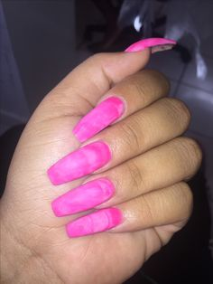 Pink Marble Acrylic Pink Marble, Coffin Nails, Barbie, Accessories, Long Fingernails, Nail Wraps, Barbie Dolls, Jewelry Accessories