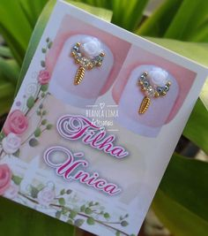 Nails Design With Rhinestones, Nail Jewels, Newborn Photos, Diamond Earrings, Manicure, Nail Designs, Nail Art, Jewelry, Bling Nail Art