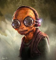 Maz Kanata - Star Wars: The Force Awakens - Andrew Theophilopoulos Star Wars 7, Star Wars Fan Art, Star Wars Characters, Star Wars Episodes, Maz Kanata, Fanart, Episode Vii, The Force Is Strong, Por Tv