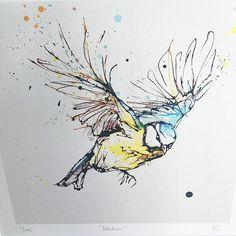 Home - Kathryn Callaghan Fine Art Outline Drawings, Bird Drawings, Animal Drawings, Watercolor Projects, Watercolor And Ink, Bird Line Drawing, Sparrow Art, Tinta China, Thread Art
