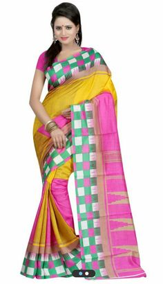 Kalash Bhagalpuri Silk Sarees Colour-Pink