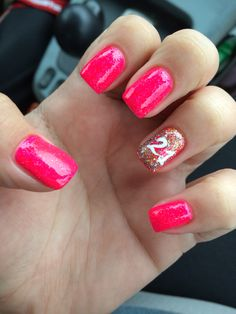 21st birthday nails