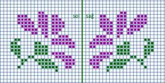 This Pin was discovered by luz Cross Stitch Tree, Mini Cross Stitch, Cross Stitch Borders, Cross Stitch Flowers, Cross Stitching, Cross Stitch Patterns Free Easy, Cross Stitch Designs, Bordado Tipo Chicken Scratch, Knitted Mittens Pattern