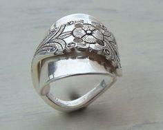 Sterling Spoon Ring Handmade Wild Prairie Silver by joykruse, $135.00