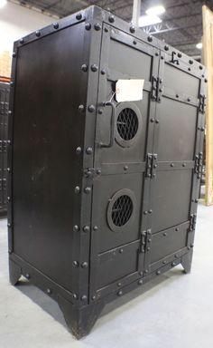 "37"" H Cabinet Black Iron Industrial 1 Door 3 Shelves SLC UT Furniture Sale Event | eBay"