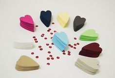 Paper Heart Punch Long Shaped Heart Wedding Tag by DiyCraftyScraps, €2.20