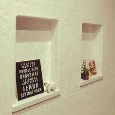 kuruさんの、セリア,ニッチ,ニッチディスプレイ,漆喰,玄関/入り口,のお部屋写真