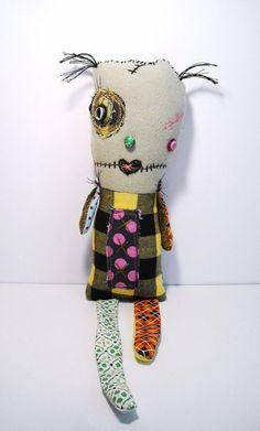 Handmade Plush Monster Monster Vooville by JunkerJane on Etsy, $40.00