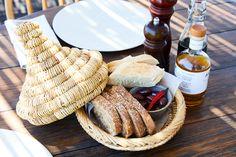 Bread & olives at San Giorgio Mykonos
