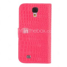USD $ 11.99 - Crocodile Grain PU Leather Case with Wreath Buckle for Samsung Galaxy S4 I9500 (Assorted Colors)