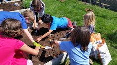 Tamarack's 3rd Grade students began work in the community garden for this year's growing season!