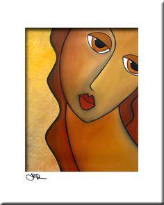 Abstract schilderij moderne pop Art print kleurrijke door fidostudio