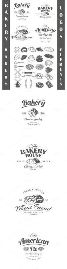4 Bakery logos templates Vol.2. $5.00