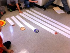 Life is Better Messy Anyway: Over the Moon! Distance of planets from the sun visual lesson.