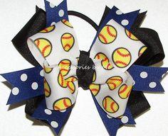 Black Hair Bows, Black Ribbon, Ribbon Bows, Softball Hair Bows, Softball Hairstyles, Trending Outfits, Unique Jewelry, Handmade Gifts, Blue