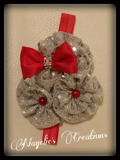 Red and Silver headband