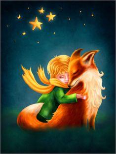 Poster Der kleine Prinz und der Fuchs