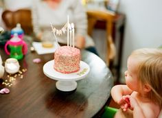 Oh the tiny birthday cake, love the look of it!