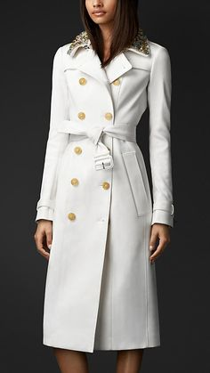 Gem Collar Trench Coat | Burberry $4995