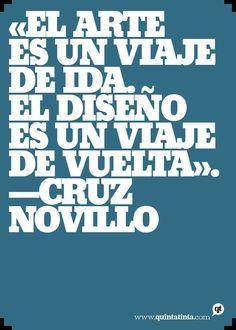 Una cita de Cruz Novillo, gloria del diseño español, compuesta en Beton Extra Bold.