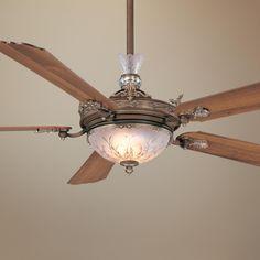 "68"" Cristafano Belcaro Walnut Finish Ceiling Fan   LampsPlus.com"
