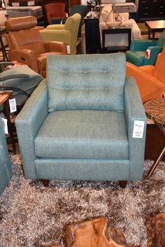 Turquoise Accent Chair www.lifestylescomo.com