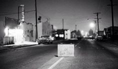 """""""Turn Left or Get Shot"""" - The aftermath of the Watts riots. Photo credit: Bettmann / Corbis / David Boroff — in Watts-Los Angeles, CA. Watts Los Angeles, Watts Riots, Los Angeles Police Department, California Highway Patrol, Black Panther Party, Us History, History Pics, Get Shot, Pretty Photos"""