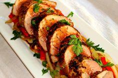 Balsamic Glazed Pork Tenderloin (Paleo/Whole30, omit bell pepper for AIP)