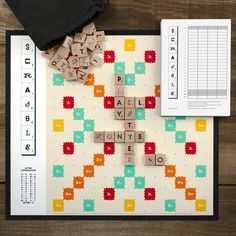 Scrabble Typography – How do you improve upon a classic like Scrabble? Start with twelve exquisite new fonts and a custom game board. Add a well-crafted solid wood storage case, tile racks, and a very neat custom scorecard and then you get it all officially licensed. A perfect gift for graphic designers, typography nerds, and Scrabble enthusiasts alike.