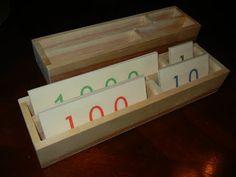 """Making Montessori Ours"": Make Montessori Number Cards & Boxes"