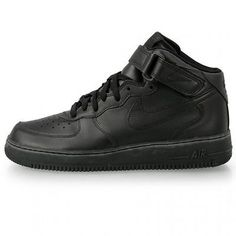 Nike Air Force 1 Mid Mens 306352-001 Black Athletic Shoes Sneakers Size 10