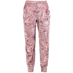 Boohoo Tall Rosie Slouch Velvet Jogger (€16) ❤ liked on Polyvore featuring activewear, activewear pants, bottoms, pajamas and pant