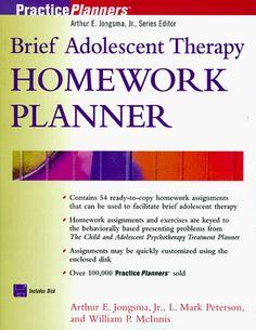 brief therapy homework planner
