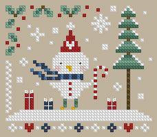 The Floss Box | Christmas Birdie Cross Stitch