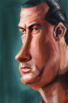 Steven #Seagal by Antonio Pozo #caricature