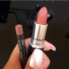 The well famous Mac 'Spice' lipstick and lip-liner is the top nude from our favourite makeup brand