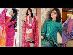 Gul Ahmed Summer Premium Lawn Embroidered Dresses Collection 2017