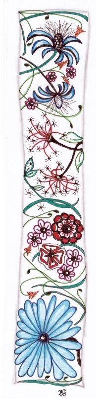 bladwijzer 16 Floral Tie, Bookmarks, Zentangle, Accessories, Floral Lace, Zen Tangles, Zentangles, Book Markers, Jewelry