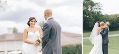 Vianca and Kevin first look before their wedding at Black Bear Golf Course NJ captured by NY NJ Wedding Photographers Pearl Paper Studio.